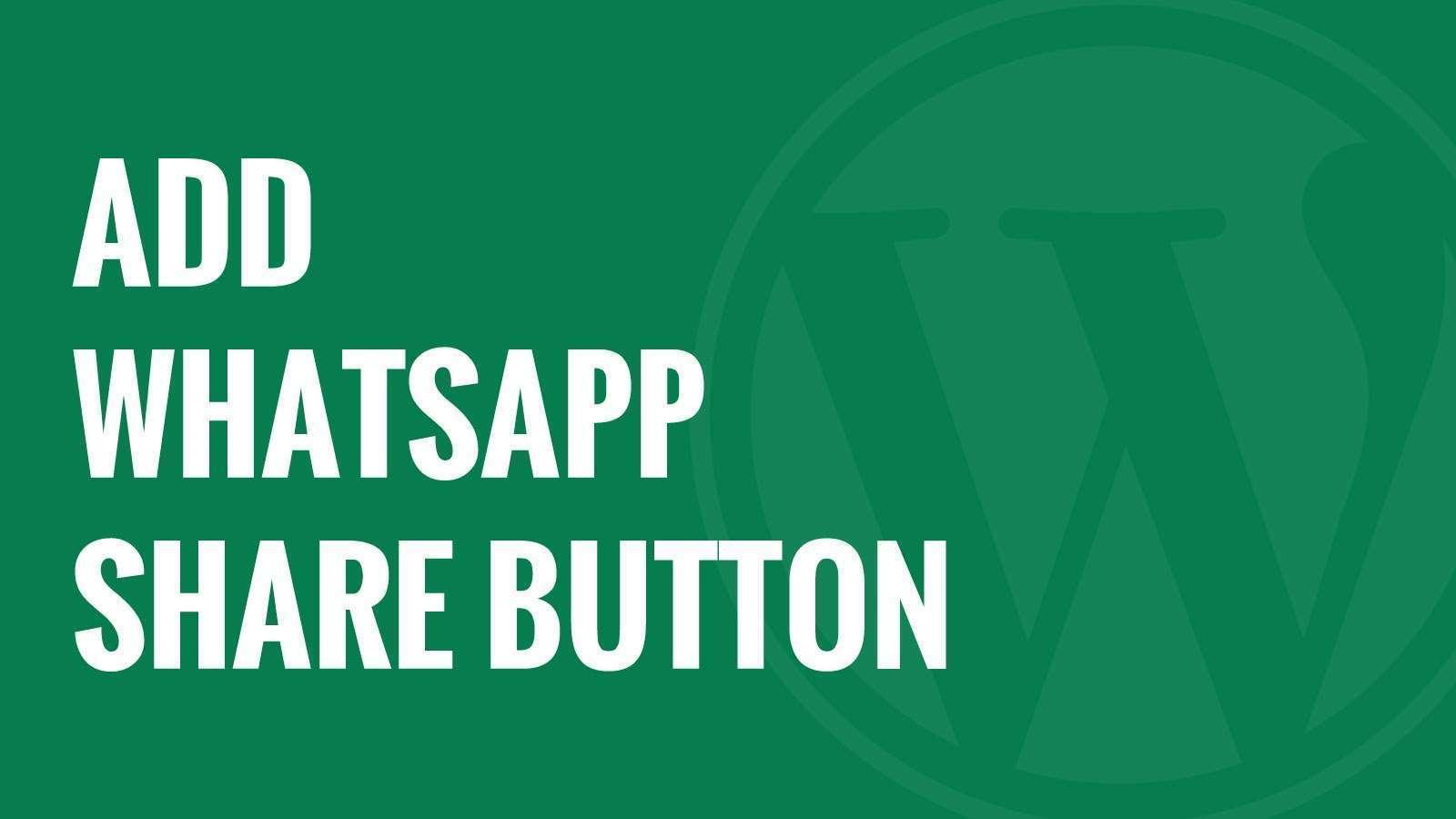 Cara Menambah Tombol Chat WhatsApp Sponsor