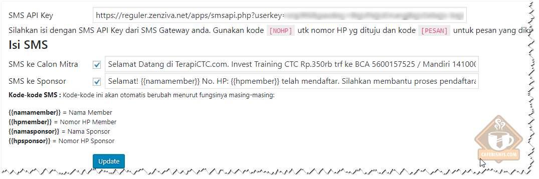 Integrasi dengan SMS Gateway