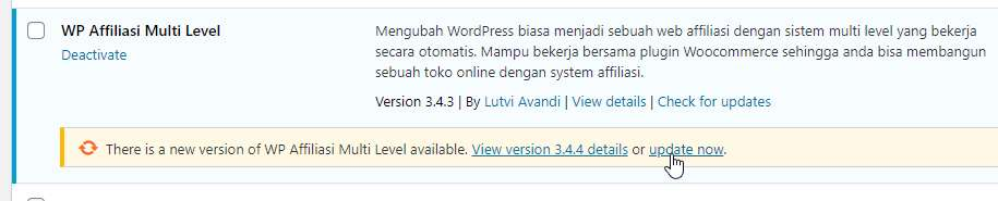 Rilis Update WP Affiliasi 3.4.4