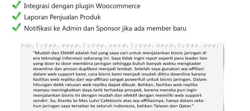 Testimony Pengguna WP Affiliasi
